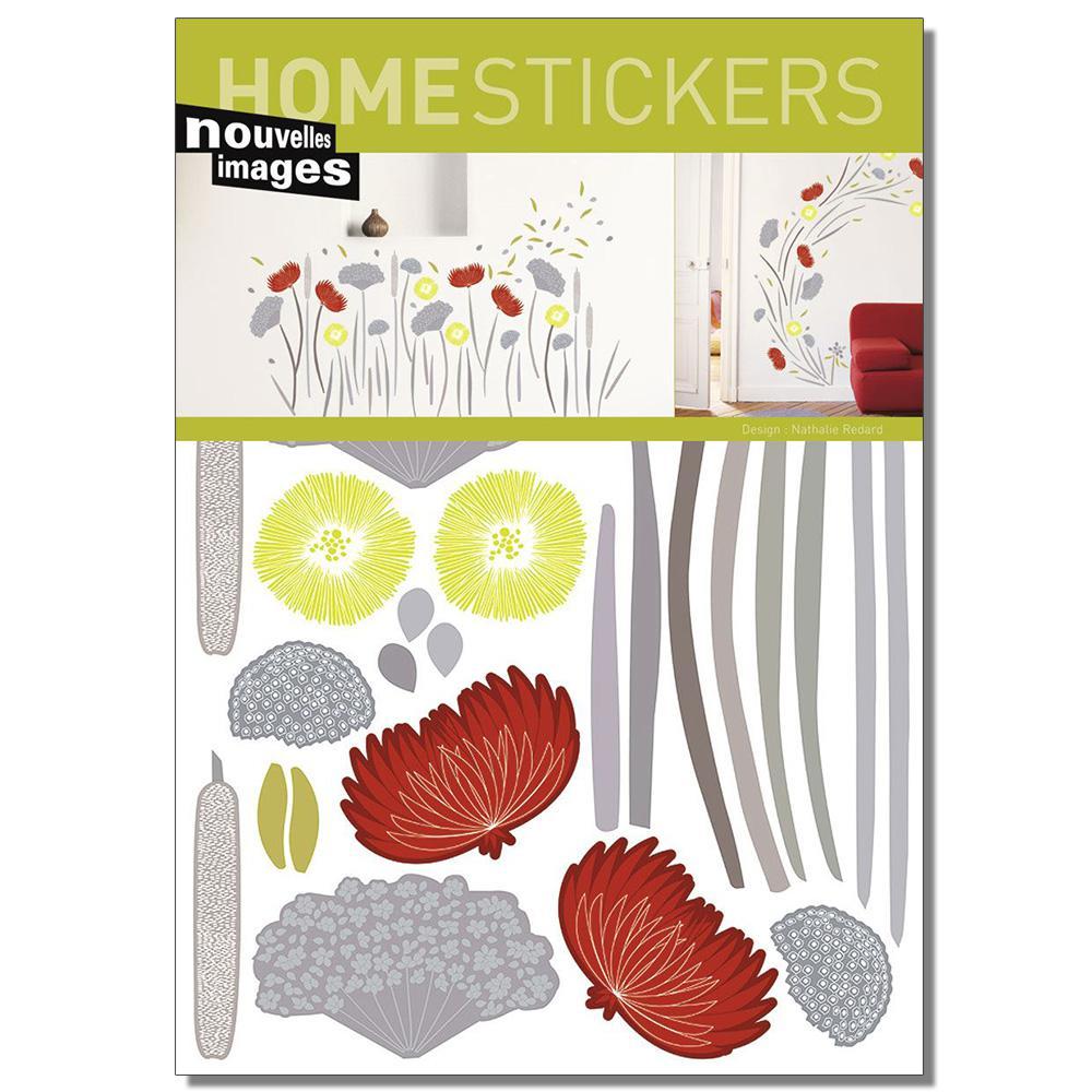 Multicolor Wildflowers Home Sticker