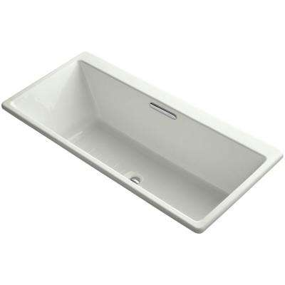 Reve 5.5 ft. Center Drain Bathtub in Dune