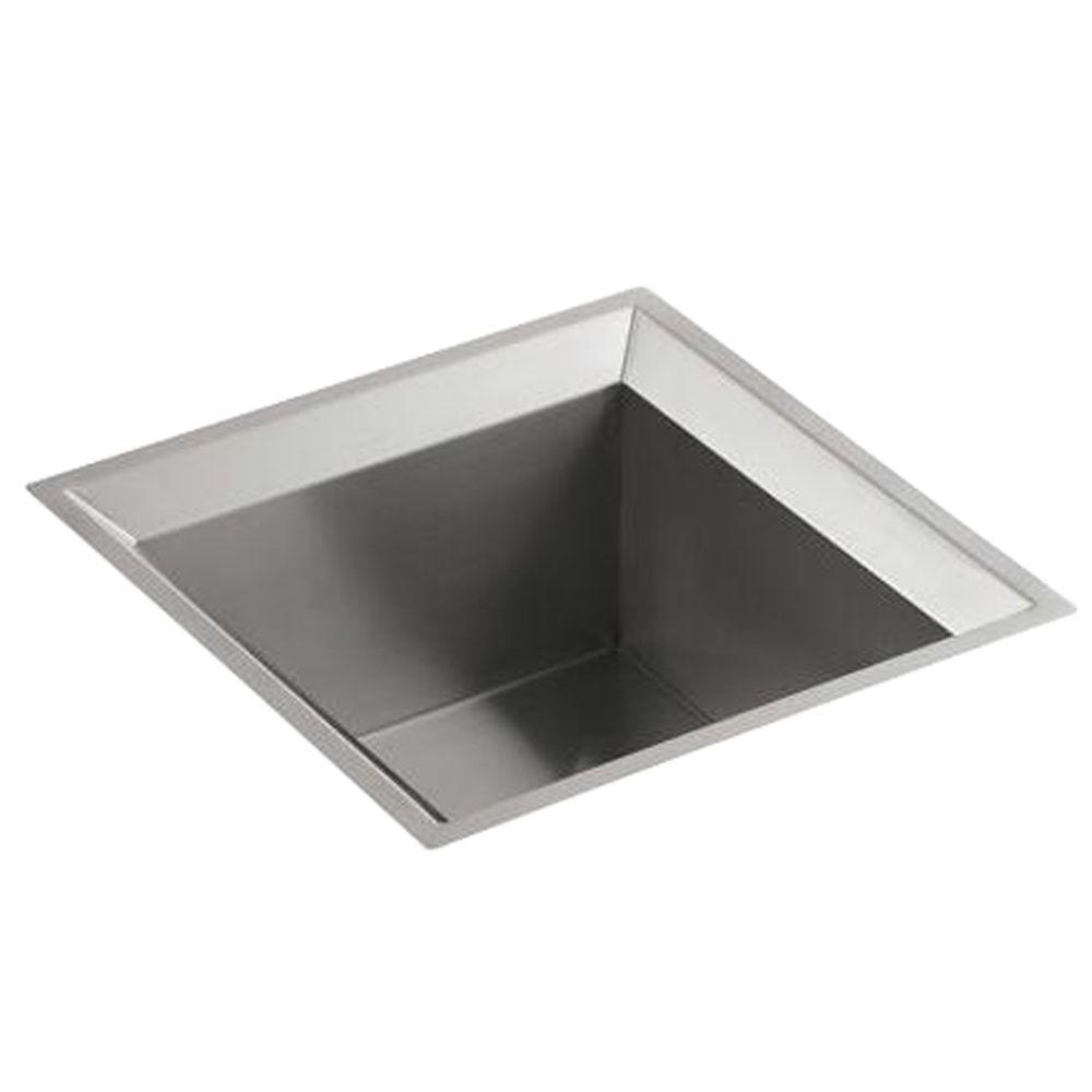 Poise Undermount Stainless Steel 18 In. Single Bowl Entertainment Sink