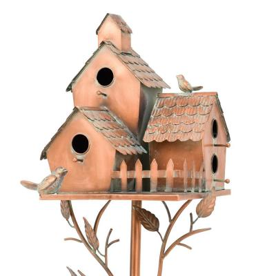 Country Style Iron Birdhouse Stake New Britain