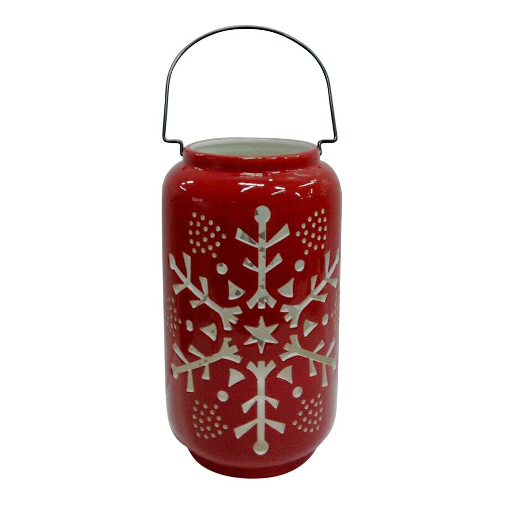 Home Accents Holiday 12 in. H Snowflake Luminary