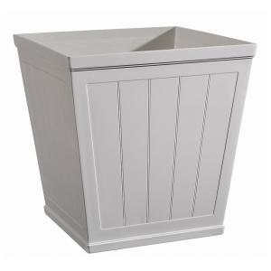Hanover 20 inch White Resin Beadboard Square Planter by