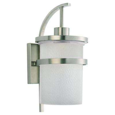Eternity 1-Light Outdoor Brushed Nickel Wall Mount Fixture
