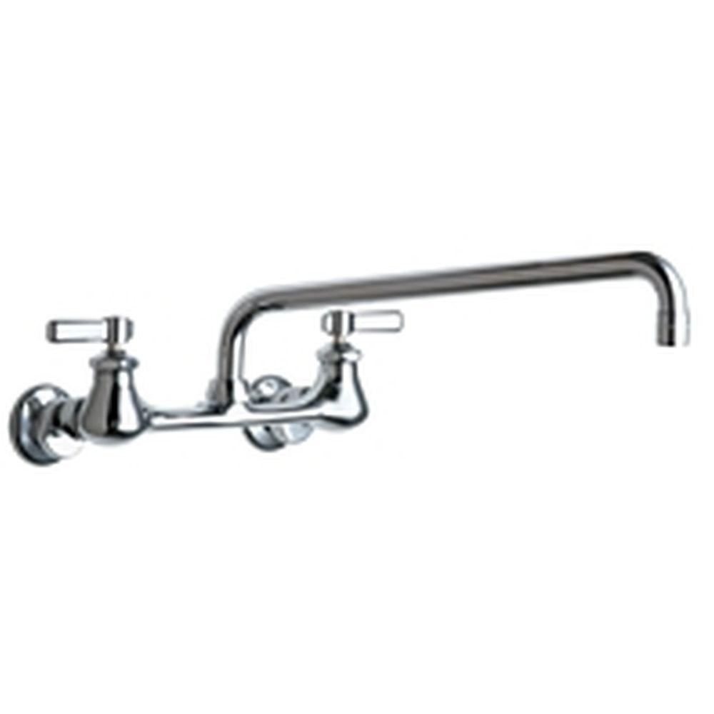 Chicago Faucets 2-Handle Kitchen Faucet in Chrome with 14 in. L Type ...