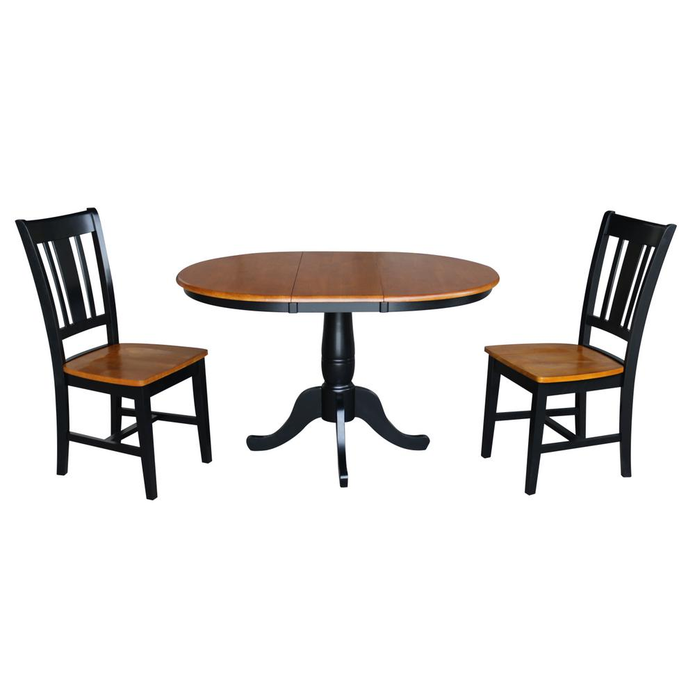 International Concepts Laurel 3-Piece Oval Black and Cher...