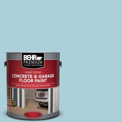 1 gal. #PFC-56 Pools of Blue 1-Part Epoxy Satin Interior/Exterior Concrete and Garage Floor Paint