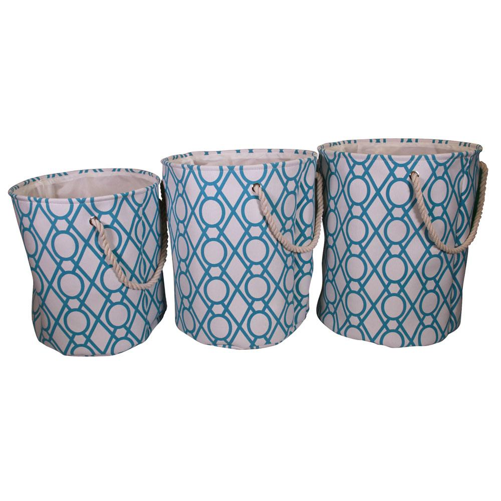 17 in. x 20 in. Laundry Hamper with Rope Handles in