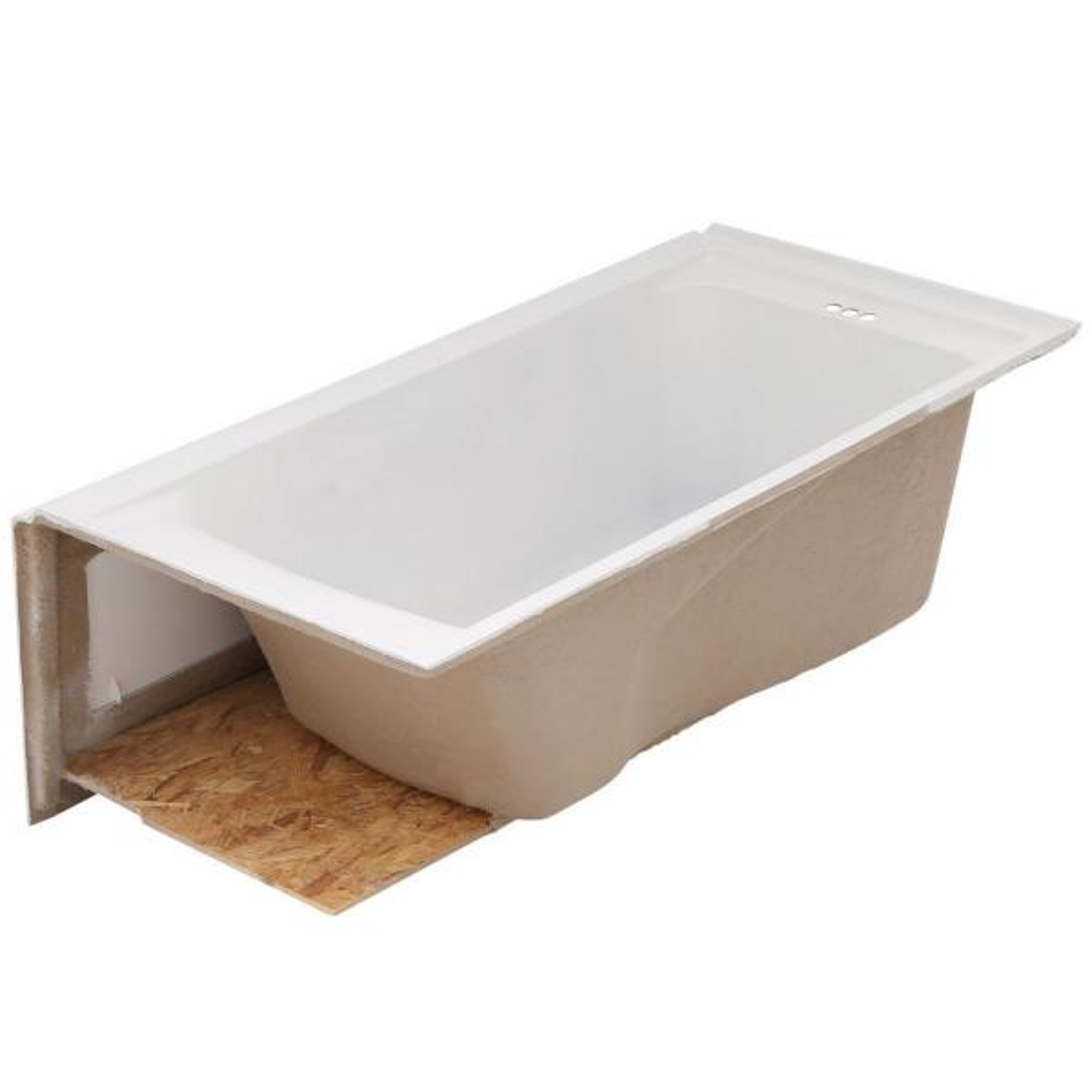 American Standard Everclean 60 In X 32 In Left Drain Soaking Tub In White 2425l 202 020 The Home Depot