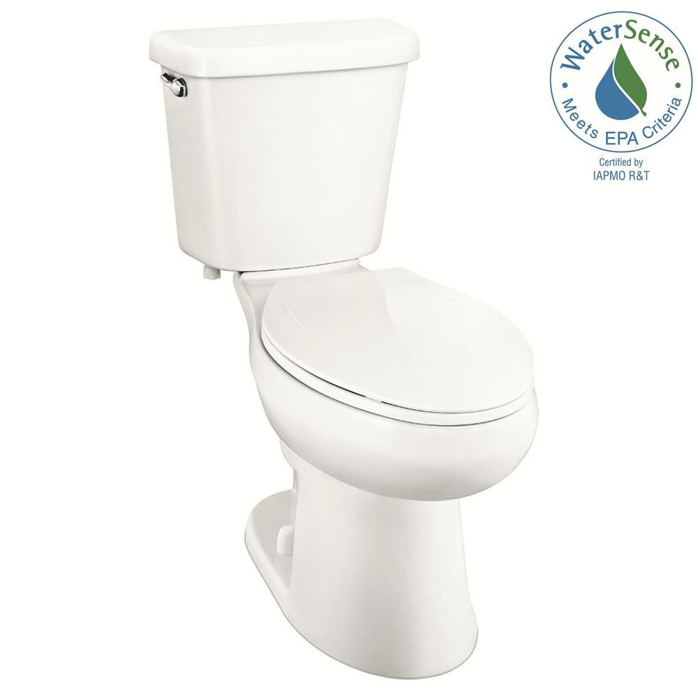 Glacier Bay 2 Piece 1 0 Gpf Single Flush Elongated Toilet