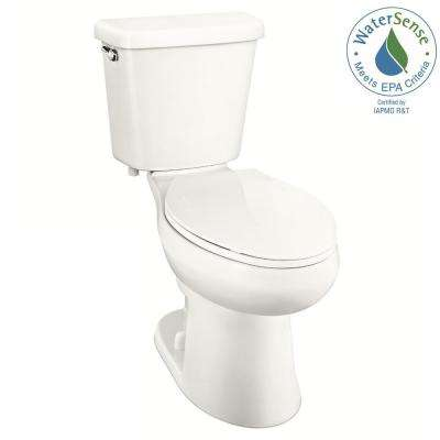 2-piece 1.0 GPF Single Flush Elongated Toilet in White