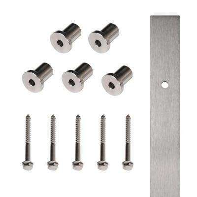 72 in. Stainless Steel Flat Rail with Mounting Brackets
