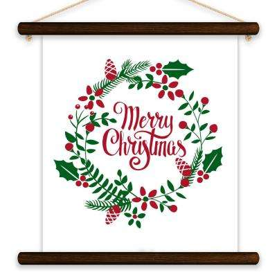 """Merry Christmas Wreath"" by Lot26 Studio Printed Canvas Wall Art"