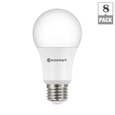 60W Equivalent Day Light A19 Non Dimmable LED Light Bulb (8-Pack)