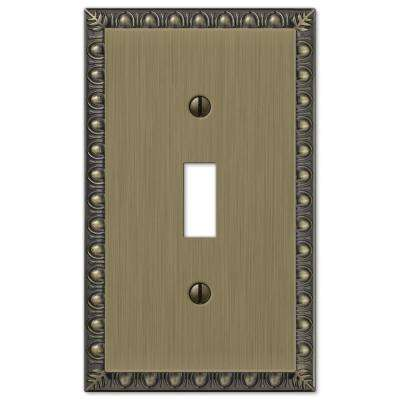 Renaissance 1 Toggle Wall Plate, Brushed Brass