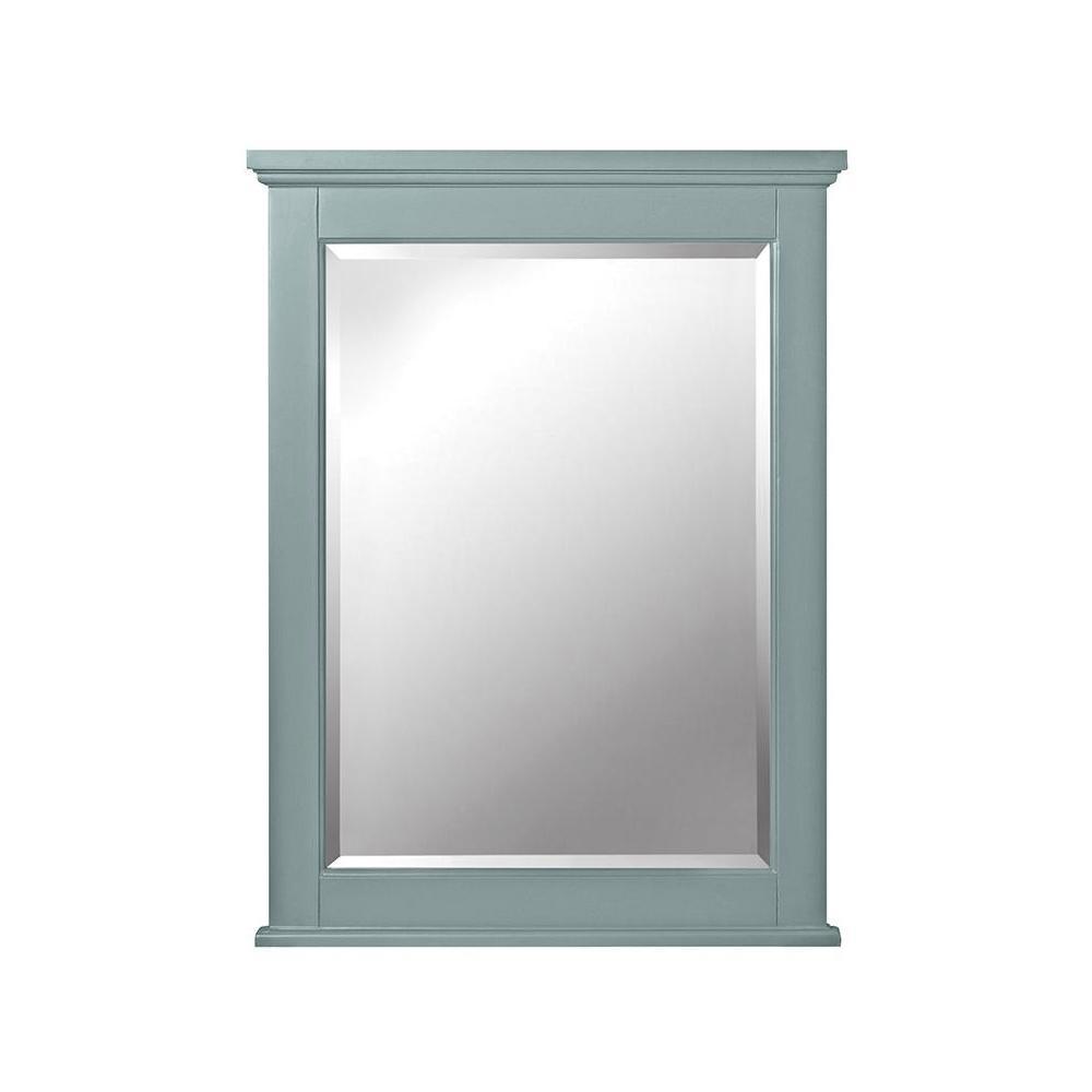 Hamilton 32 in. H x 24 in. W Single Framed Wall Mirror in Sea Glass