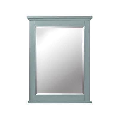 24 in. W x 32 in. H Framed Rectangular  Bathroom Vanity Mirror in seaglass