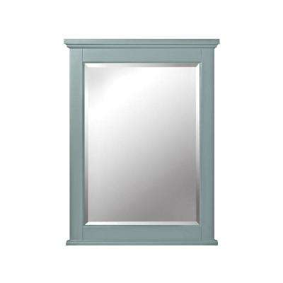 Hamilton 32 in. H x 24 in. W Single Framed Wall Mirror in Sea Glass