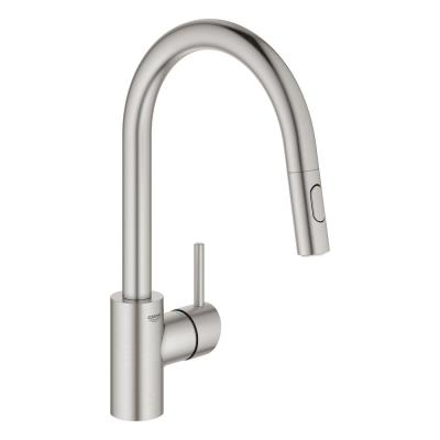 Concetto Single-Handle Pull-Out Sprayer Kitchen Faucet 1.75 GPM in Super Steel Infinity