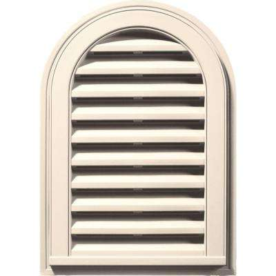 14 in. x 22 in. Round Top Gable Vent in Sandstone Beige