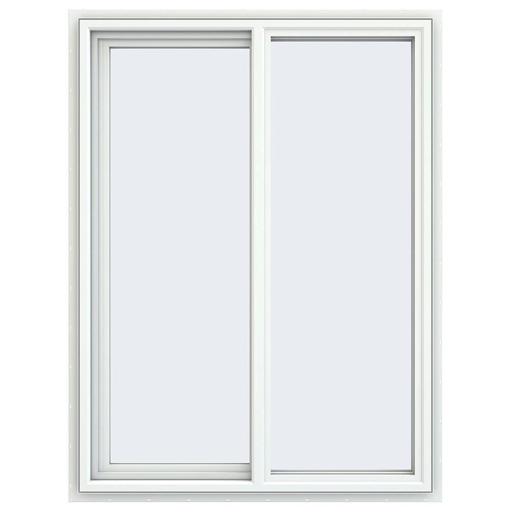 35.5 in. x 47.5 in. V-4500 Series Left-Hand Sliding Vinyl Windows