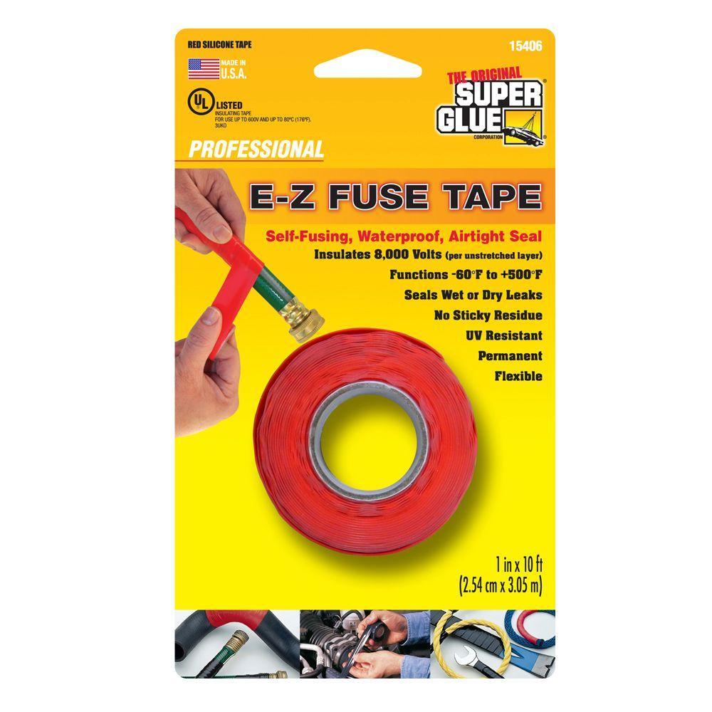Super Glue 1 inch x 10 ft. Red E-Z Fuse Silicone Tape (12-Pack) by Super Glue