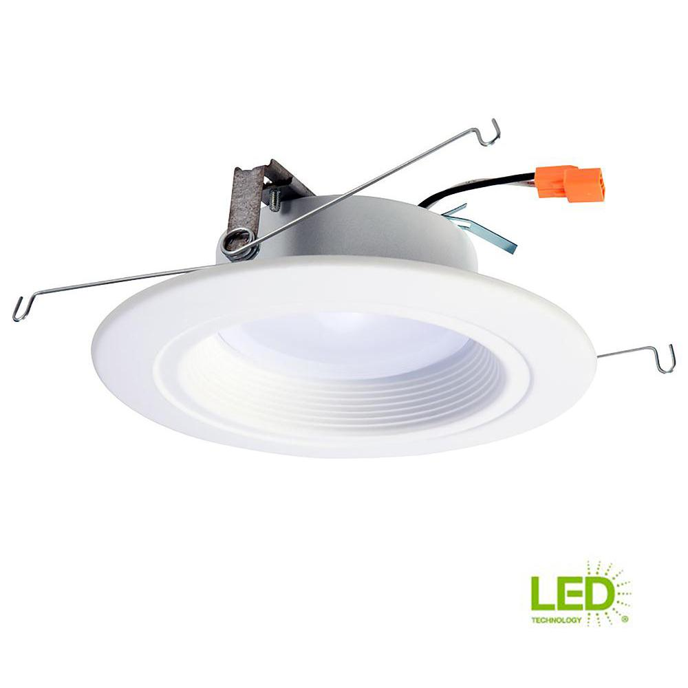 Halo rl 5 in and 6 in white integrated led recessed ceiling light halo rl 5 in and 6 in white integrated led recessed ceiling light fixture aloadofball Image collections
