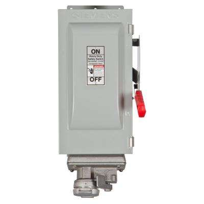 Heavy Duty 30 Amp 600-Volt 3-Pole Type 12 Fusible Safety Switch with Receptacle