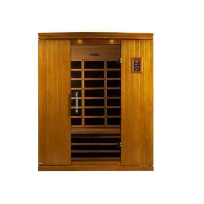 Tru Heat 3-Person Far Infrared Sauna with 6 Carbon Tech Heaters, MP3, Light and Digital Controls