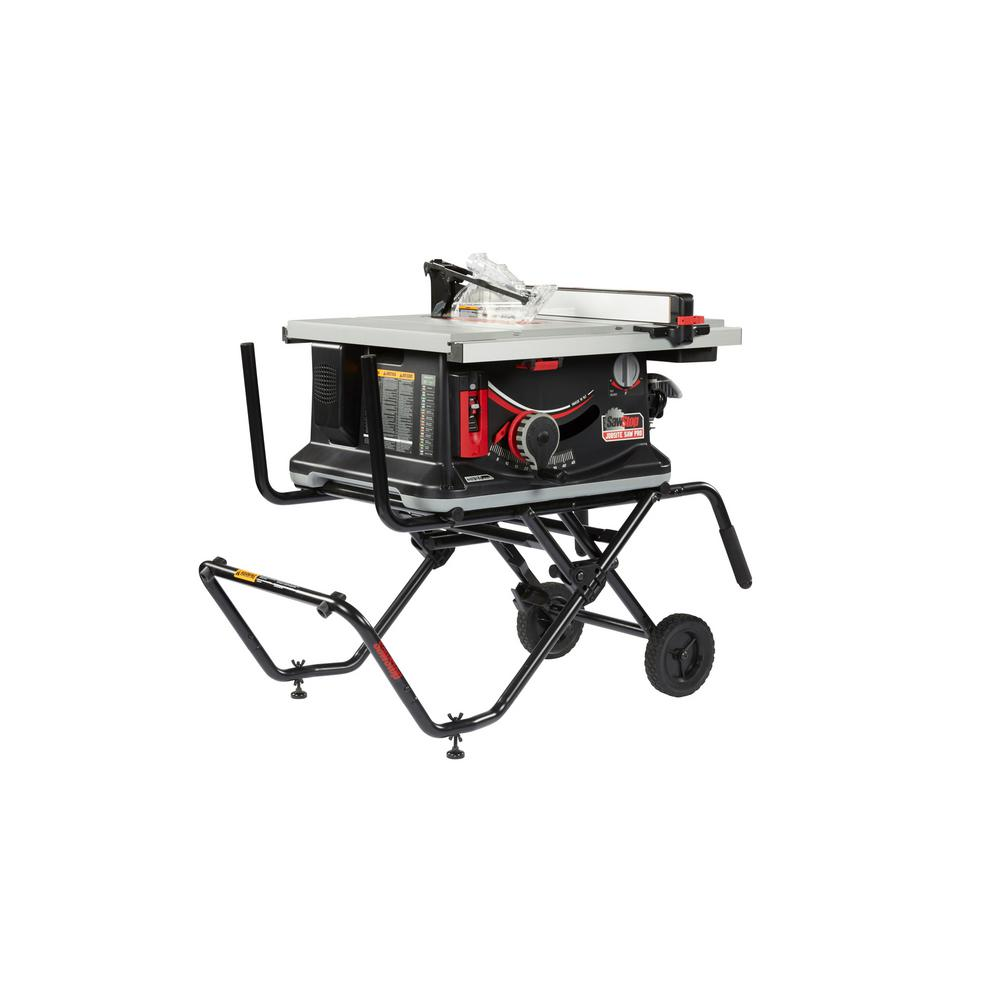 SawStop 15 Amp 120-Volt 60 Hz Jobsite Saw Pro with Mobile Cart Assembly