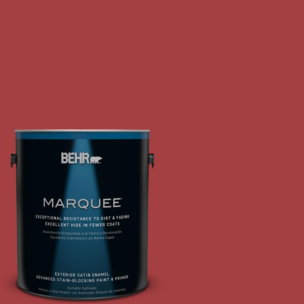 1-gal. #P140-7 No More Drama Satin Enamel Exterior Paint