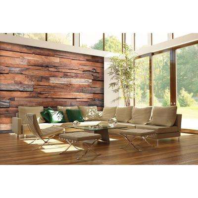 100 in. H x 144 in. W Reclaimed Wood Wall Mural