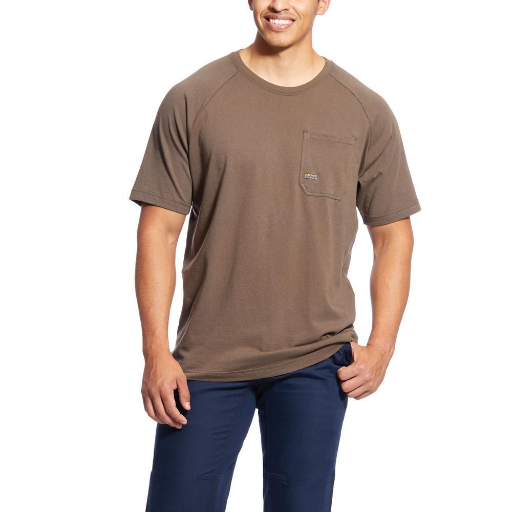 Men's Size 2X-Large Tall Moss Rebar Cottonstrong Short Sleeve Work T-Shirt