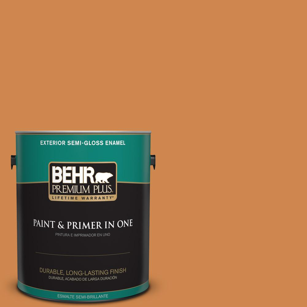 1 gal. #PPU3-03 Flaming Torch Semi-Gloss Enamel Exterior Paint
