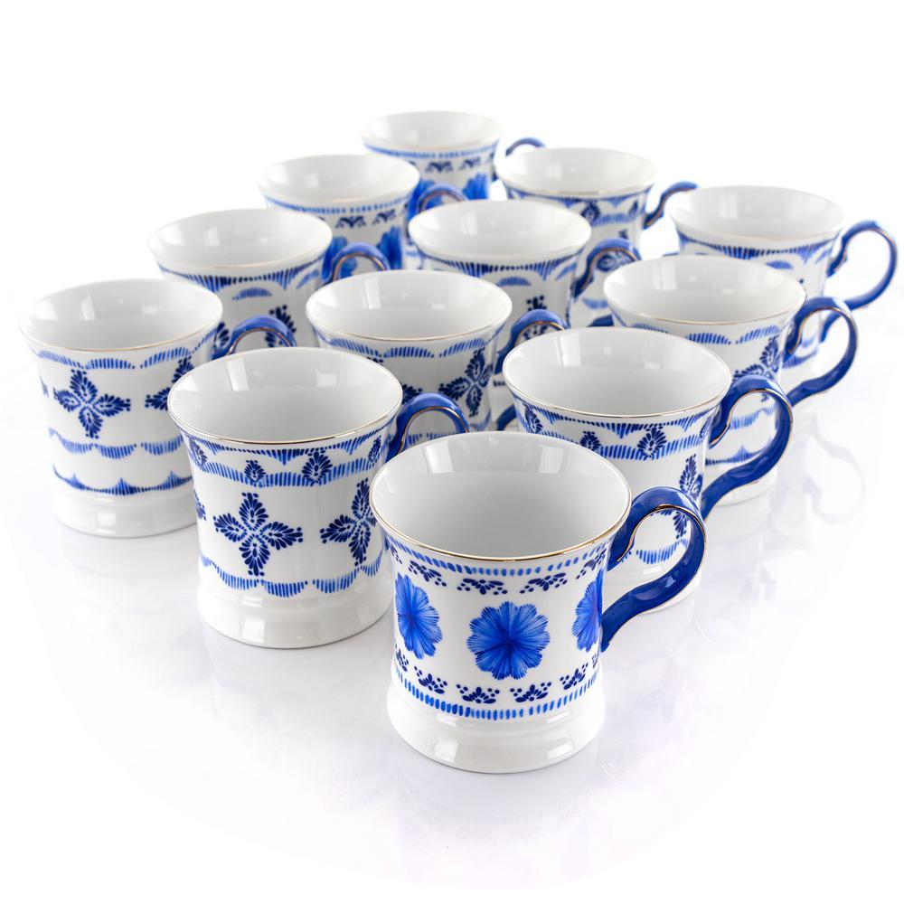 13.2 oz. Blue Ceramic Mug (Set of 12)