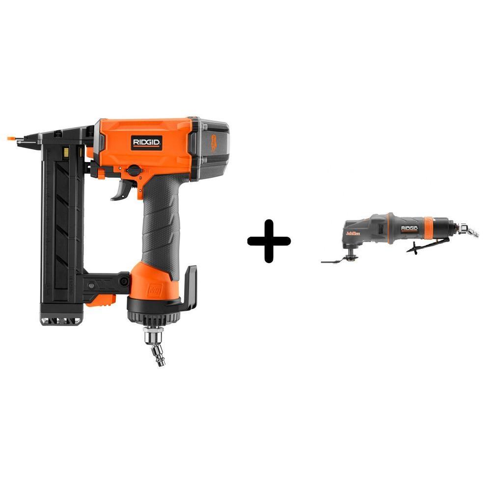 RIDGID 18-Gauge 1-1/2 in. Stapler and Pneumatic JobMax Multi-Tool Starter Kit