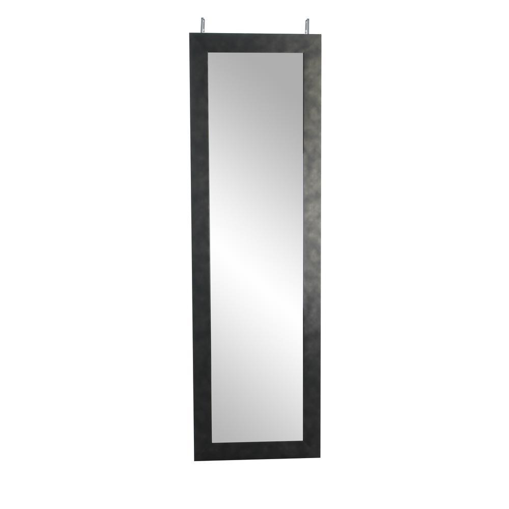 Oversized Black Composite Hooks Industrial Mirror (71 in. H X 21.5 in. W)