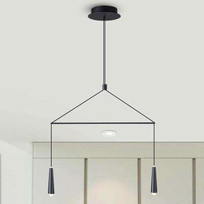 pendulum lighting fixtures. Expression 6-Watt Black Integrated LED Double Pendant Lighting Fixture Pendulum Lighting Fixtures T