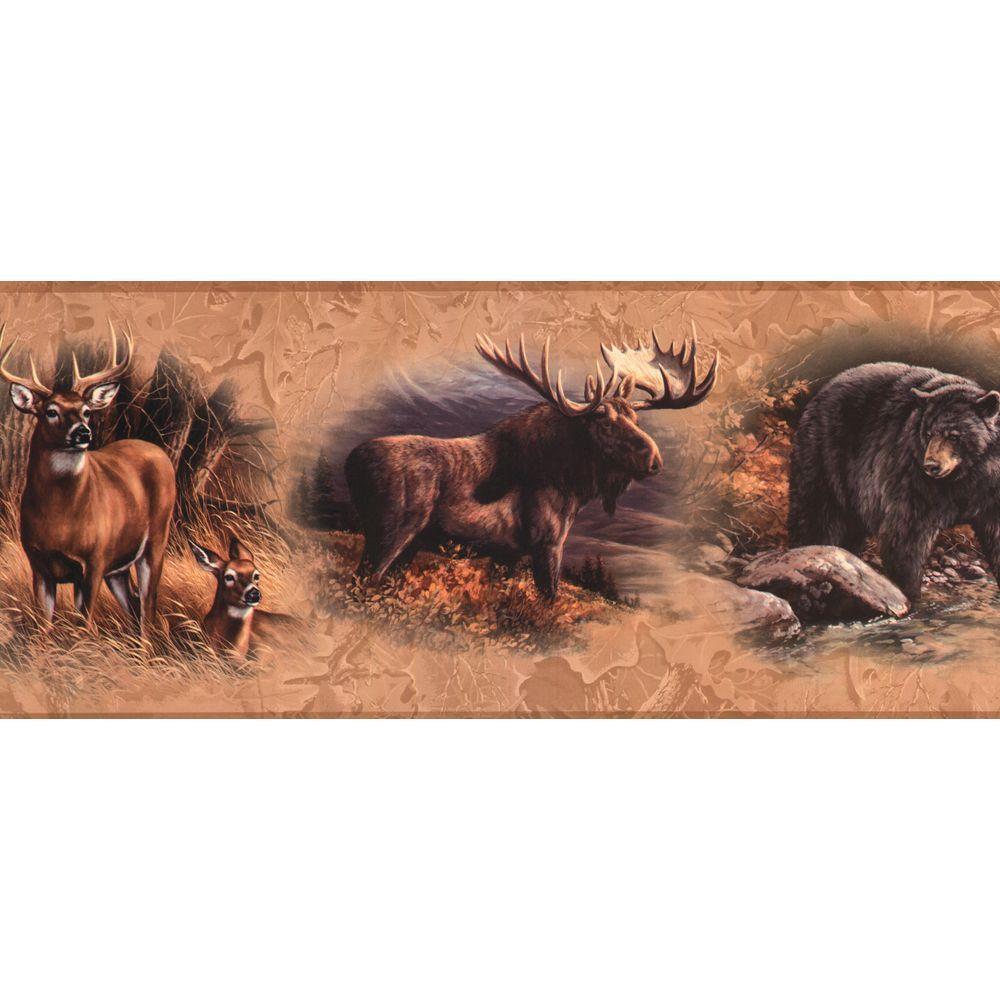 Lake Forest Lodge North American Animal Wallpaper Border
