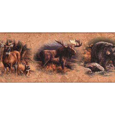 Lake Forest Lodge North American Animal Wallpaper Border