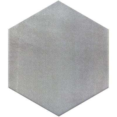 Hexagon Gray 9.875 in. x 11.375 in. x 10mm Matte Porcelain Floor and Wall Tile (18 pieces / 10.76 sq. ft. / box)