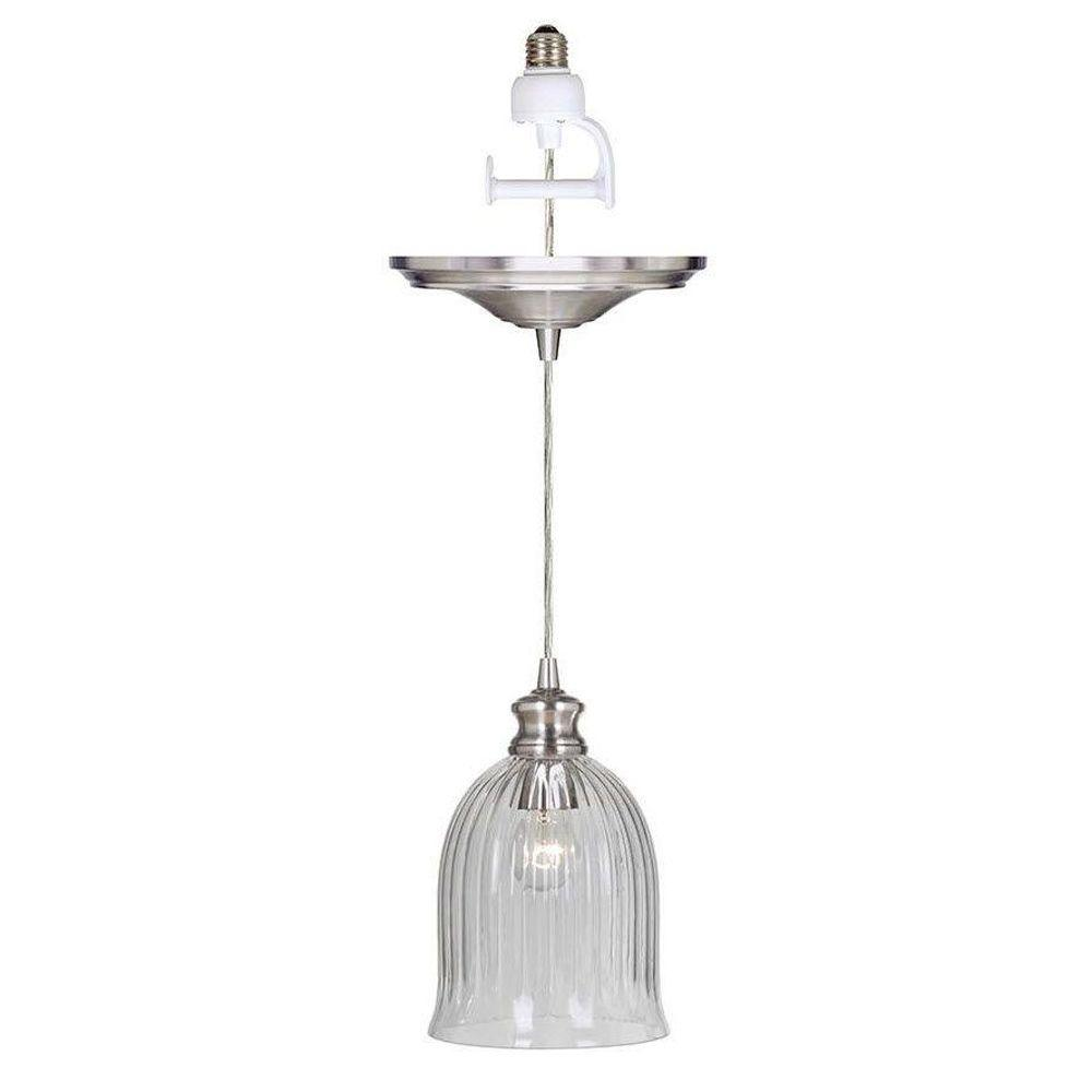 Home Decorators Collection Marissa 1-Light Brushed Nickel Pendant Conversion Kit was $86.59 now $33.8 (61.0% off)