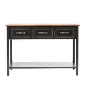 Cool Safavieh Michael Black And Oak Storage Console Table Gmtry Best Dining Table And Chair Ideas Images Gmtryco
