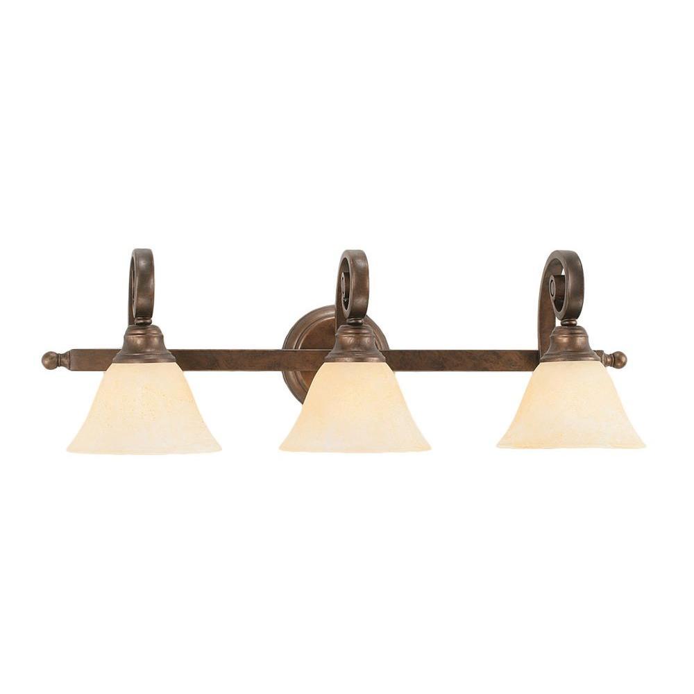 Concord 3-Light Bronze Vanity Light