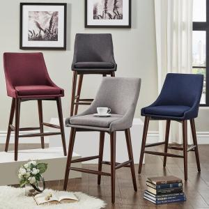 a8302cace103 HomeSullivan 24 in. Nobleton Twilight Blue Mid Century Bar Stool ...