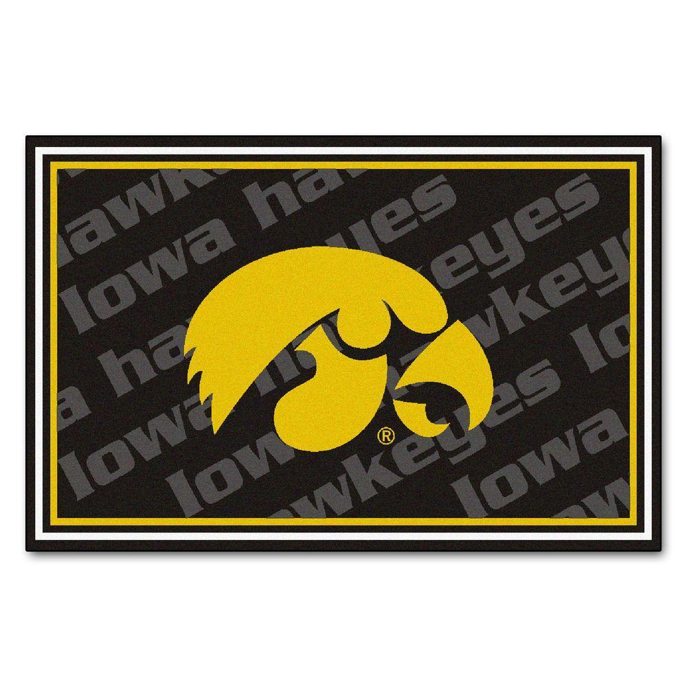 University of Iowa 5 ft. x 8 ft. Area Rug