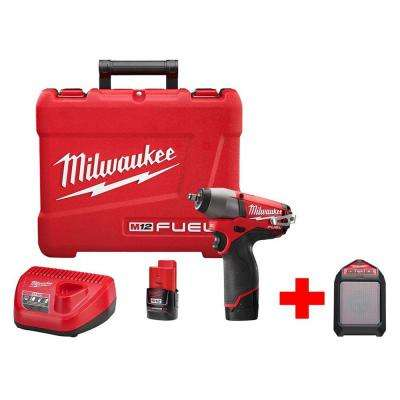 M12 FUEL 12-Volt Brushless Cordless 3/8 in. Impact Wrench Kit with Free M12 Wireless Speaker