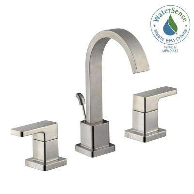 Marx 8 in. Widespread 2-Handle High-Arc Bathroom Faucet in Brushed Nickel