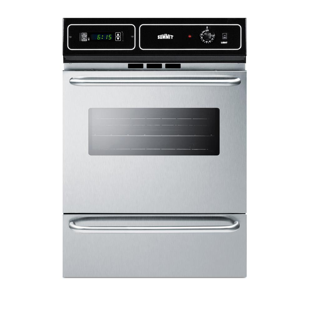 Summit Liance 24 In Single Gas Wall Oven Stainless Steel