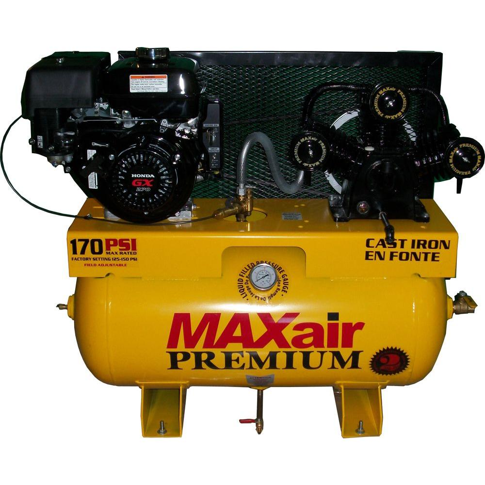 Maxair Premium Industrial Truck Mount 30 Gal. 9 HP Honda Electric Start Air Compressor