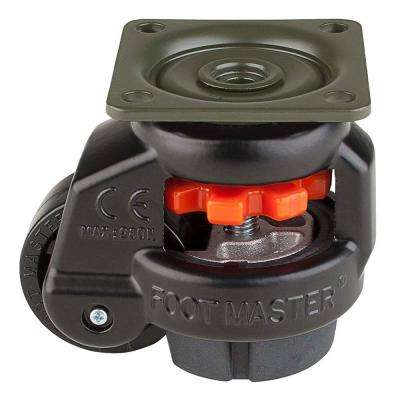1-5/8 in. Nylon Wheel Top Plate Leveling Caster with Load Rating 110 lbs.